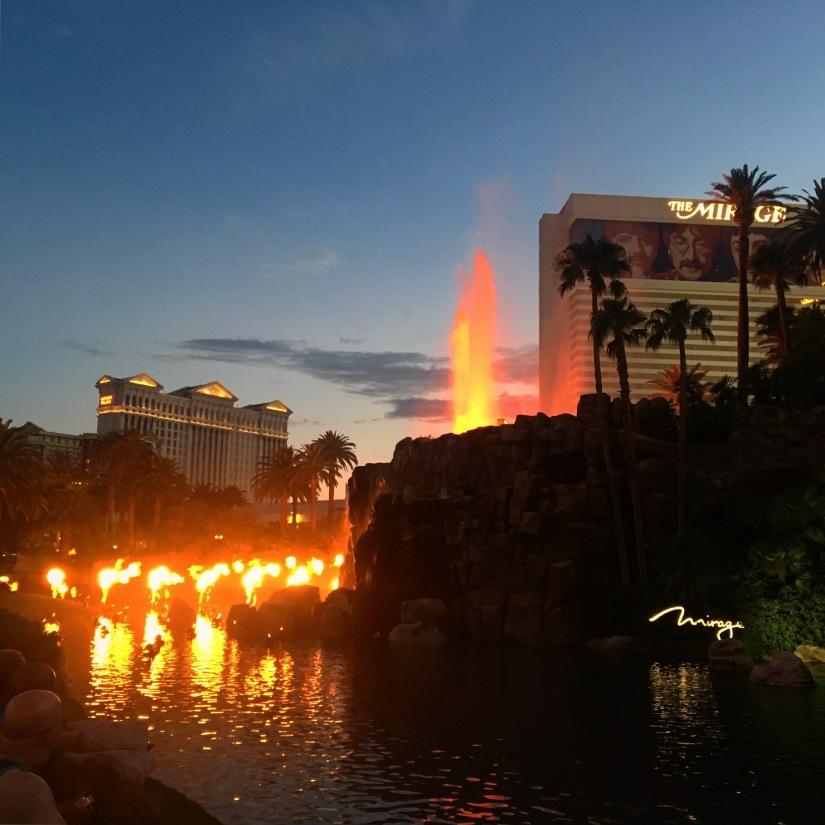 vulcano dell'hotel Mirage las vegas