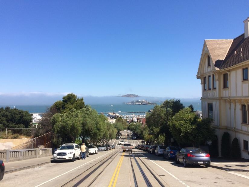 Alcatraz vista da Lombard street